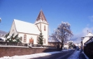 Dorfkirche im Schnee